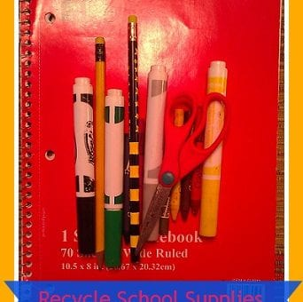 Frugal Living Tip- Recycle Back to School Supplies