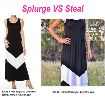 Splurge VS Steal: Chevron Black and White Maxi Dress as low as $23.94 Shipped (Up to a Size 14)