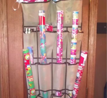 DIY Gift Wrapping Organizer