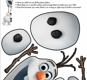 Disney Frozen Build a Snowman Printable