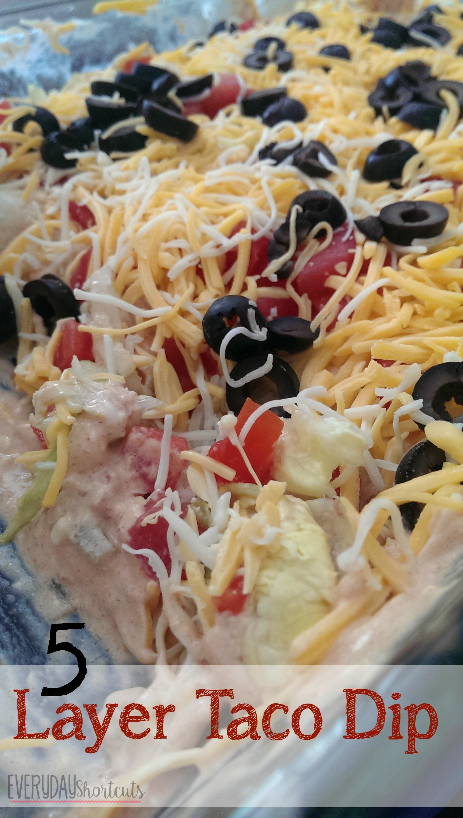 5 layer taco dip