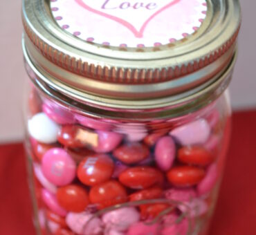Valentine Candy Jar with Free Printable