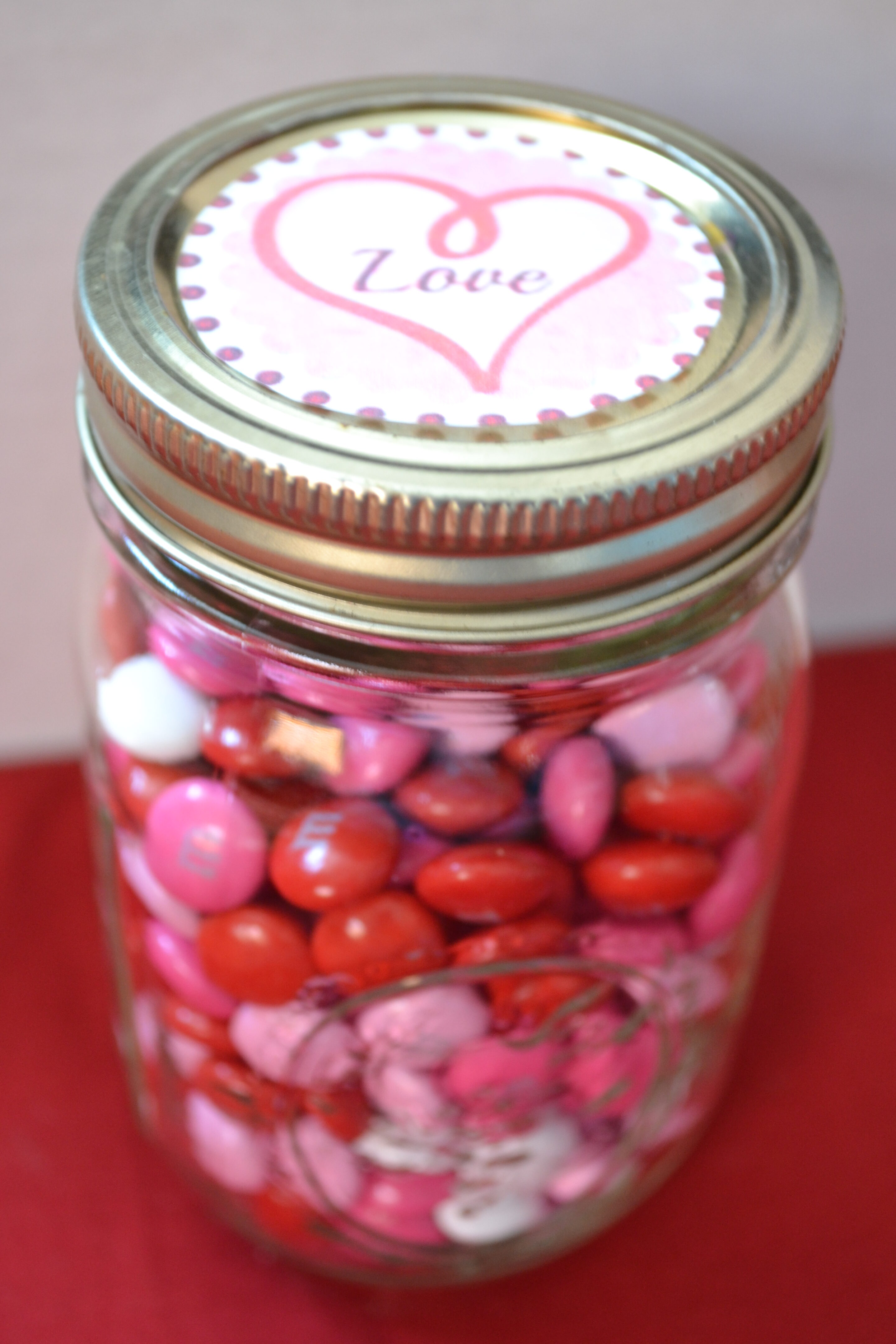 Valentine Candy Jar With Free Printable Everyday Shortcuts