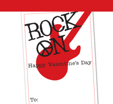 FREE Rock On Valentine Printable