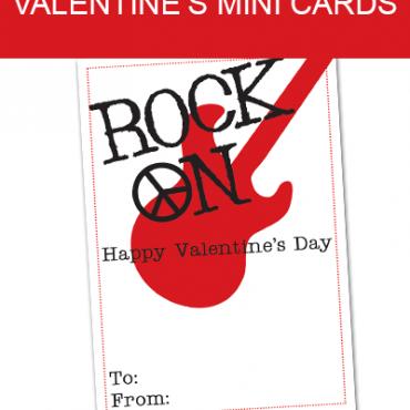FREE Rock On Valentine Printable