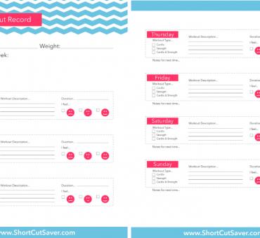 FREE Printable Workout Chart