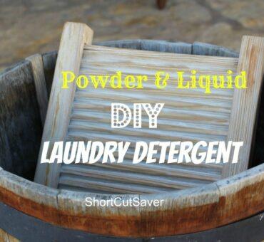 DIY Laundry Detergent - Powder & Liquid