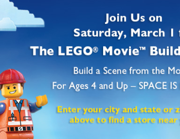 Free Lego Movie Building Event at Barnes and Noble on March 1st