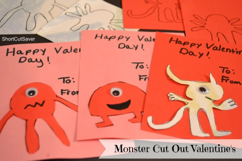 Monster Cut Out Valentine's + FREE Printable