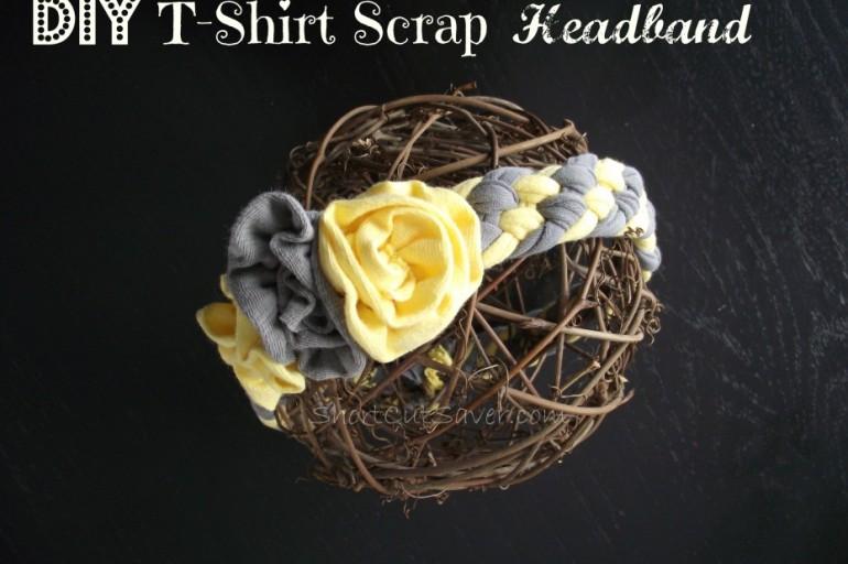DIY T-Shirt Scrap Headband