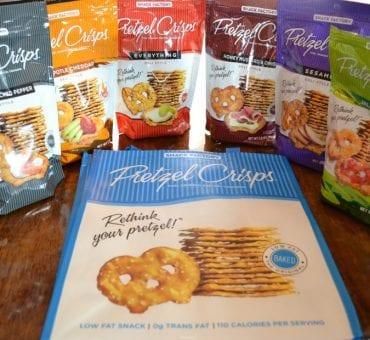 Review:  Pretzel Crisps and Giveaway
