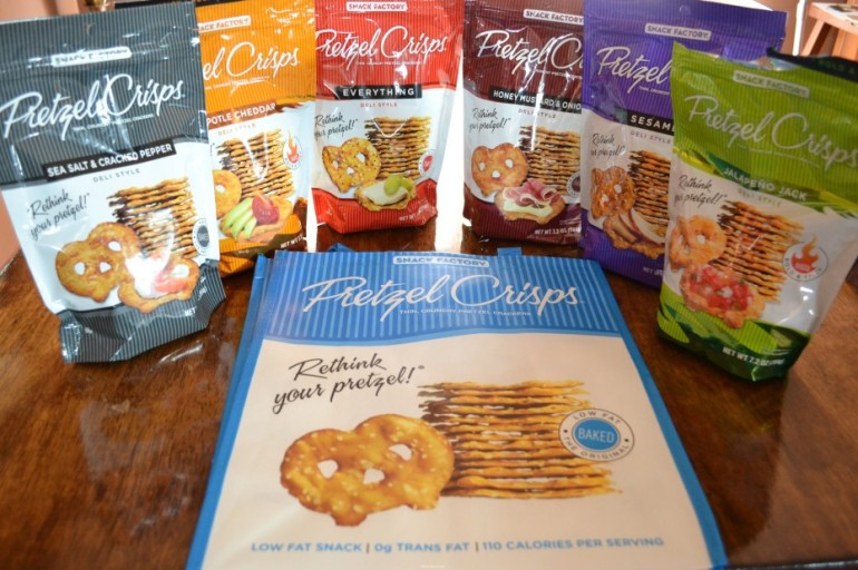 Review:  Pretzel Crisps and Giveaway