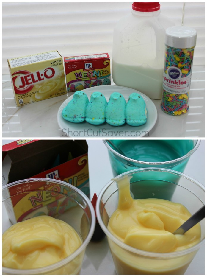 Peeps Pudding Cups Ingredients2