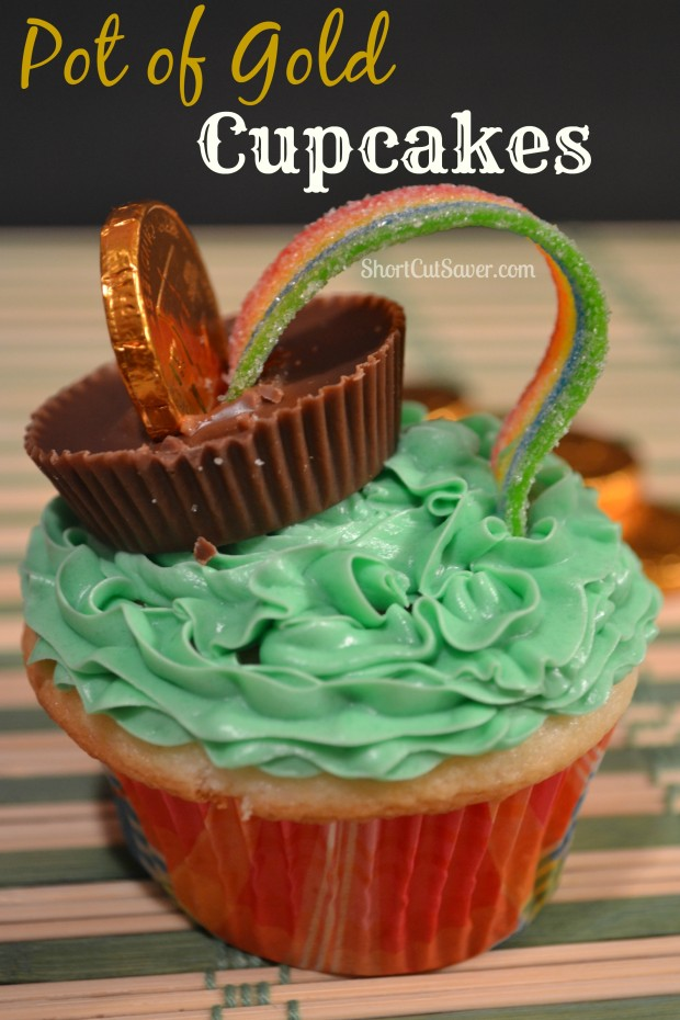 Pot of Gold St. Patrick's Day Cupcakes