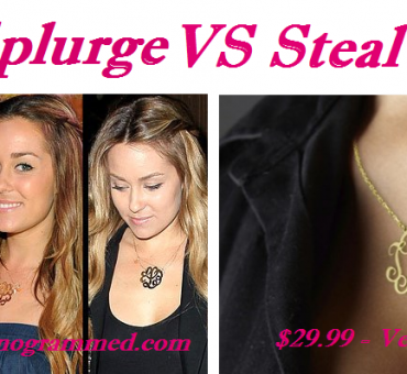 Splurge VS Steal: Lauren Conrad's (Look Alike) Monogrammed Necklace just $29.99 + $4.99 Shipping