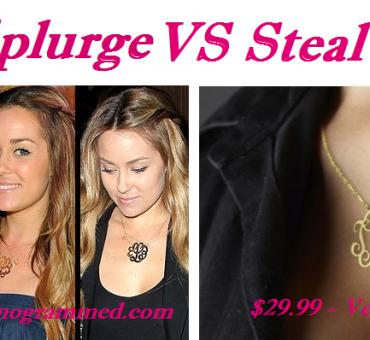 Splurge VS Steal: Lauren Conrad's (Look Alike) Monogrammed Necklace just $29.99 + $4.99 Shipping
