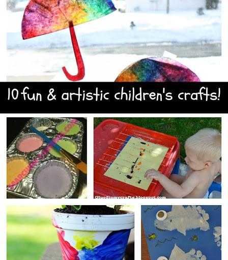 10 Fun & Artistic Children's Crafts