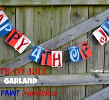 DIY 4th of July Garland with Paint Swatches