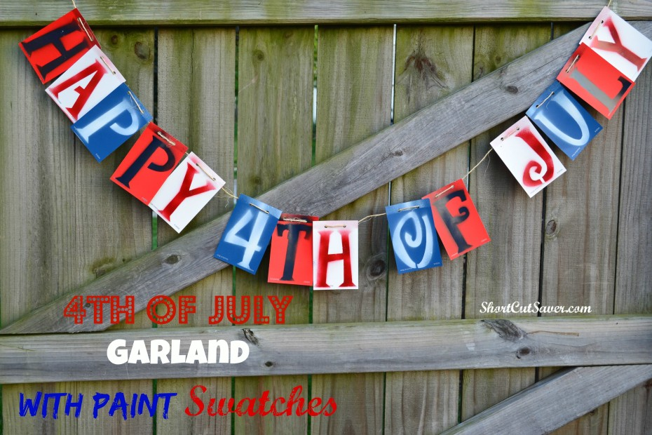DIY 4th of july of garland