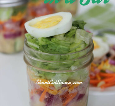 Chef Salad in a Jar