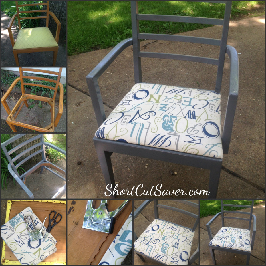 diy chair upcycle for under 10 everyday shortcuts. Black Bedroom Furniture Sets. Home Design Ideas