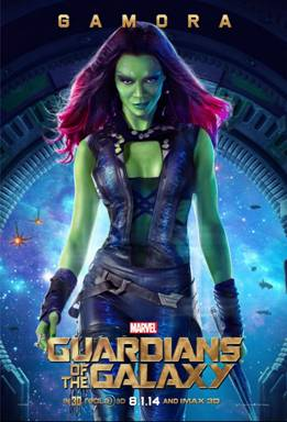 A special look at Gamora (played by Zoe Saldana) from Marvel's GUARDIANS OF THE GALAXY #GuardiansOfTheGalaxy