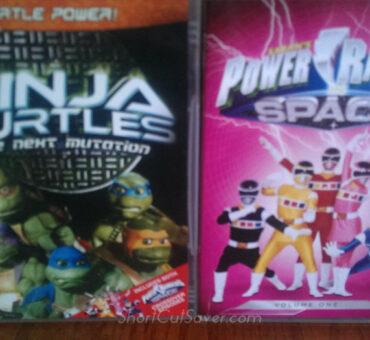 Ninja Turtles: The Next Mutation – Turtle Power & Power Rangers: In Space, Vol. 1 DVD Review