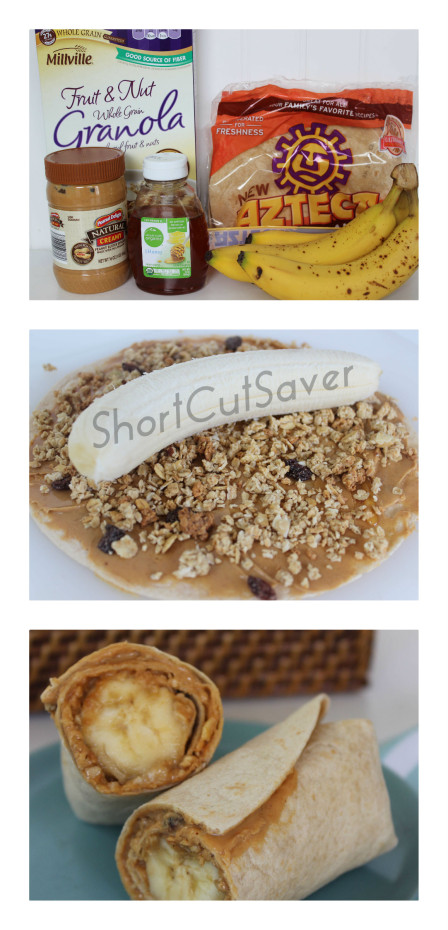 peanut butter banana roll-up instructions