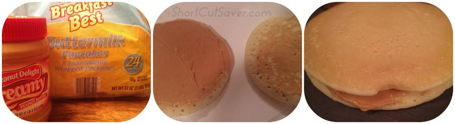 peanut butter pancake sandwich process