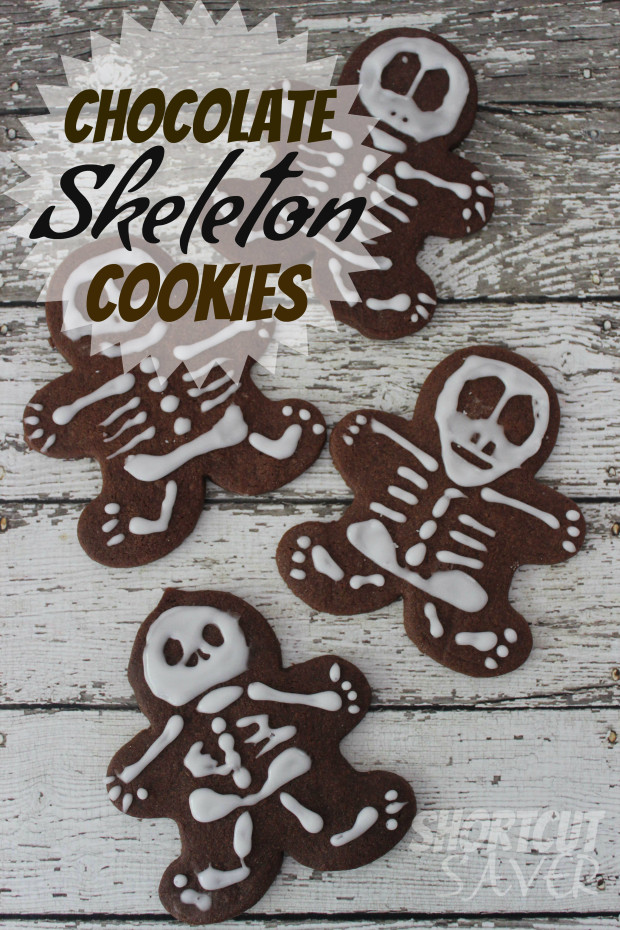 Chocolate Skeleton Cookies
