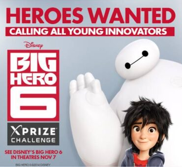 Xprize Launches Big Hero 6 Video Contest for Kids Ages 8-17 (Win a Trip to LA) #BigHero6