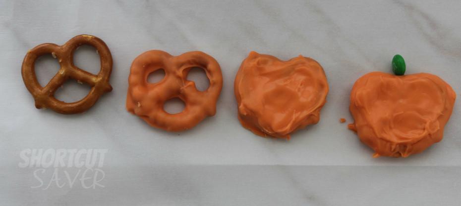 pretzel pumpkins process