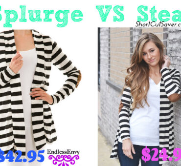 Splurge VS Steal: Striped Cardigan with Elbow Patch as low as $24.99 Compared to $42.95