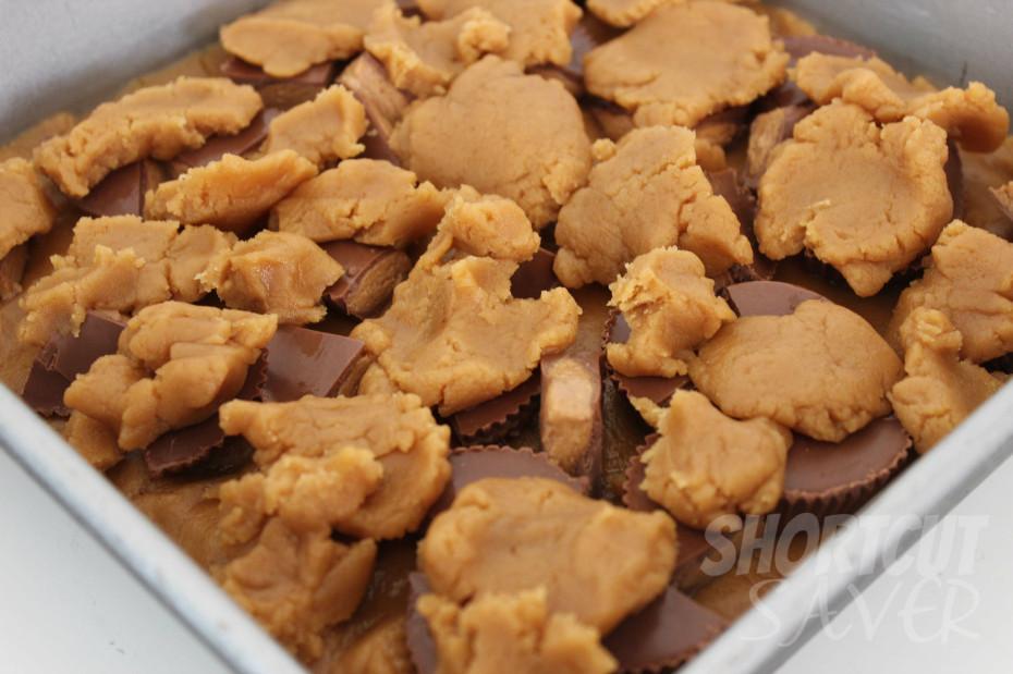Peanut Butter Cup Blondies process