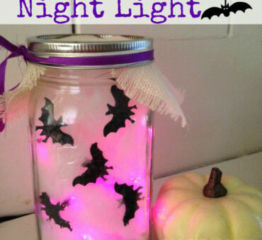DIY Spooky Bats Night Light