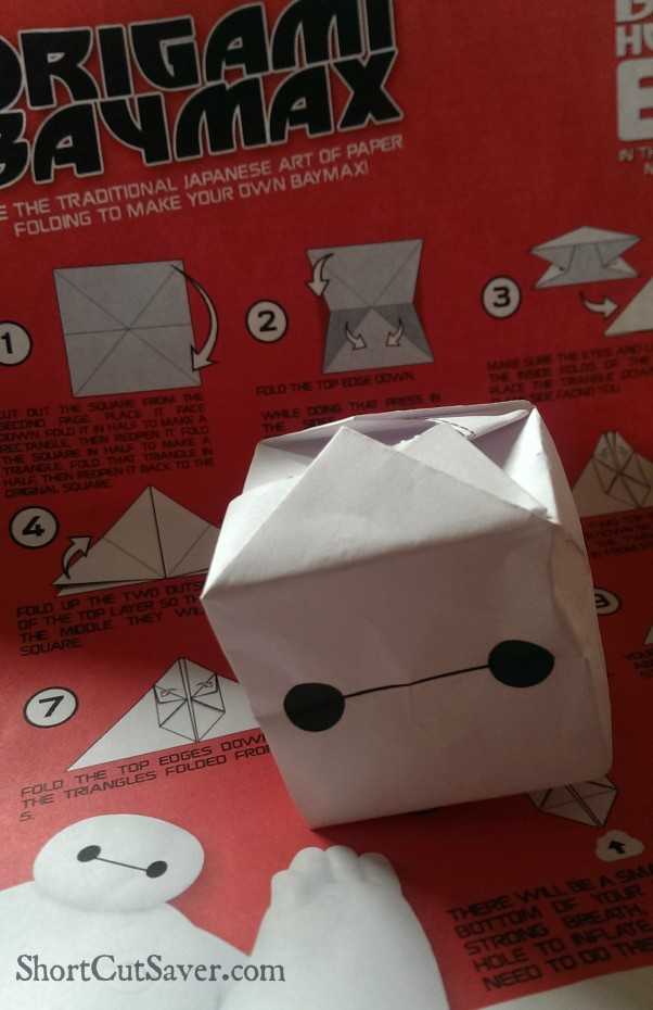 baymax origami activity
