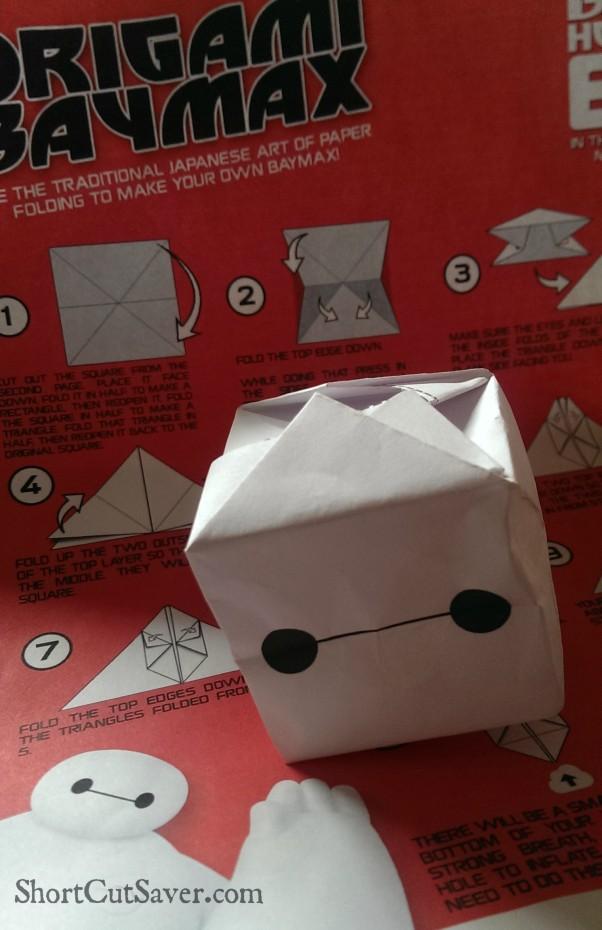 baymax origami activity