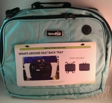 Genius Pack High Altitude Flight Bag - Keeps all of your Esstenials Right at your Seat