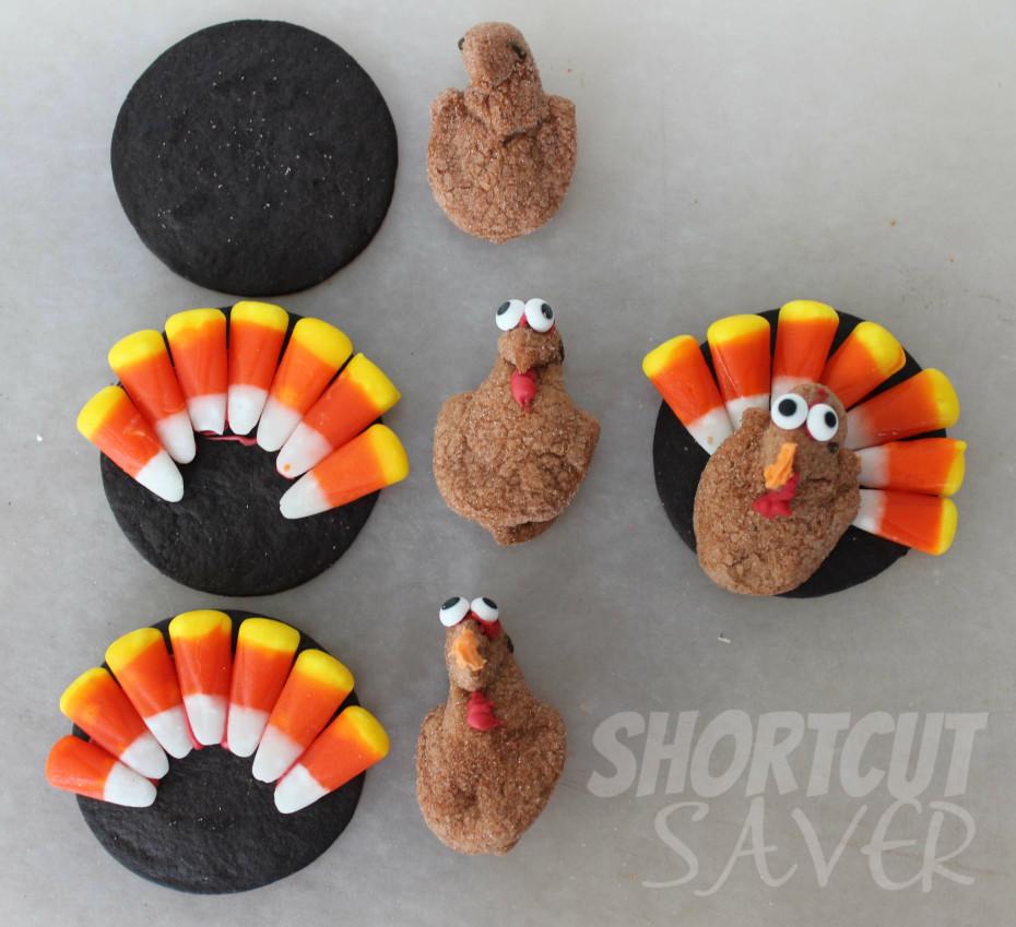 mini peeps turkeys instructions