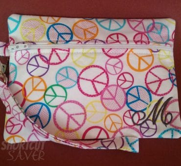 Its Sew You Dear Peace Sign Wristlet Review and $25 Gift Certificate Giveaway