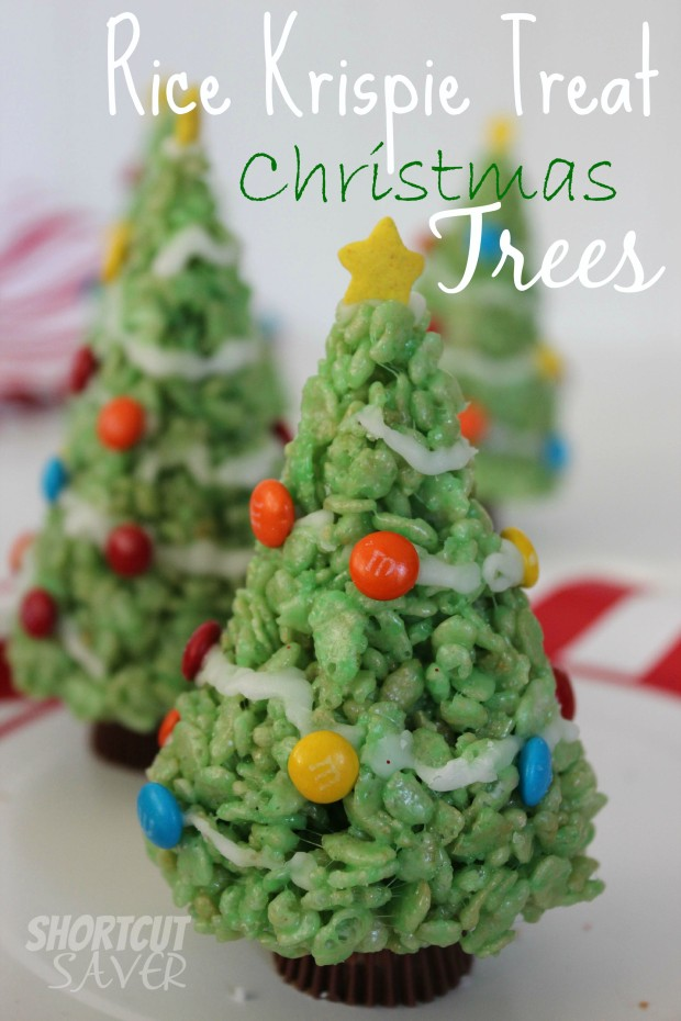 Rice Crispy Treat Christmas.Rice Krispie Treat Christmas Trees