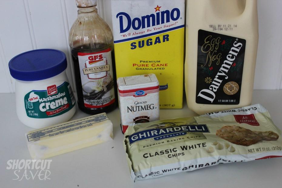 easy eggnog fudge ingredients