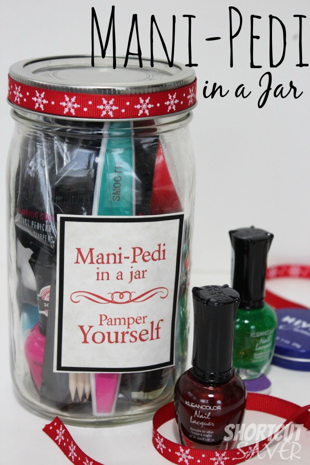 mani-pedi in a jar