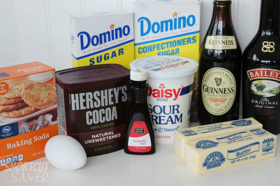 Guinness Cupcakes with Bailey's Frosting ingredients
