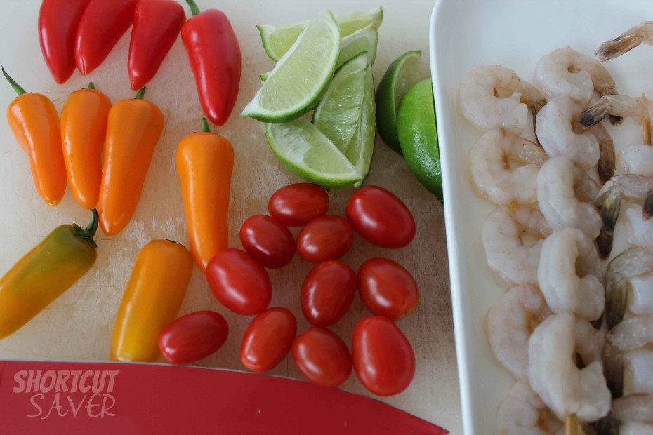 Southwestern shrimp skewers layout