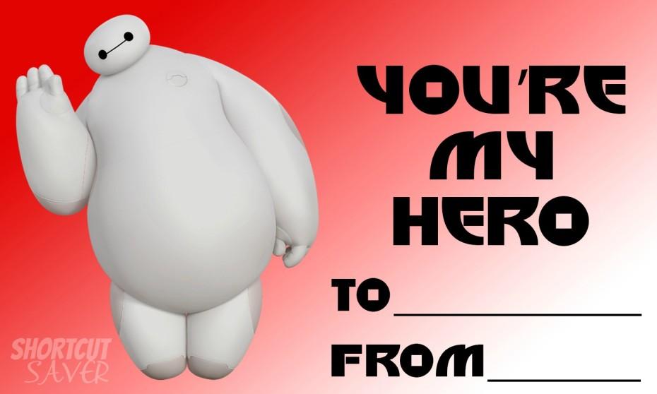 baymax valentine cards