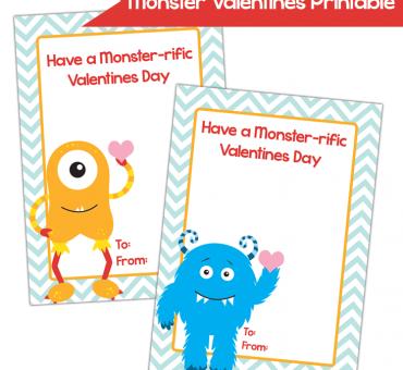 FREE Monster Valentine Printables