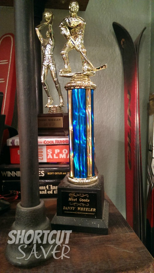 trophy on the set of baby daddy