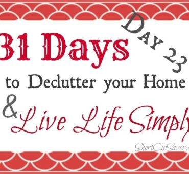 31 Days to Declutter Your Home & Live Life Simply: Digital Photos (Day 23)