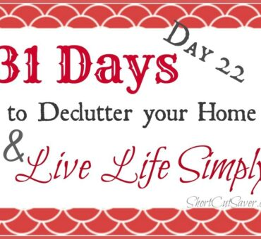 31 Days to Declutter Your Home & Live Life Simply: Accessories (Day 22)